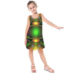 Christmas Ornament Fractal Kids  Sleeveless Dress