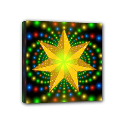 Christmas Star Fractal Symmetry Mini Canvas 4  X 4