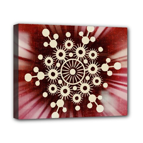 Background Star Red Abstract Canvas 10  X 8