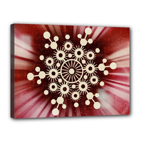Background Star Red Abstract Canvas 16  X 12