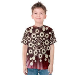 Background Star Red Abstract Kids  Cotton Tee