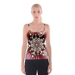 Background Star Red Abstract Spaghetti Strap Top