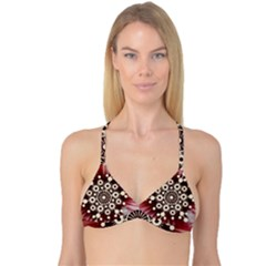 Background Star Red Abstract Reversible Tri Bikini Top