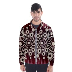 Background Star Red Abstract Wind Breaker (men)