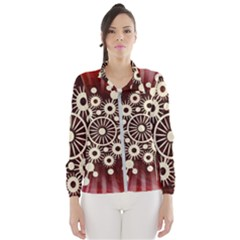 Background Star Red Abstract Wind Breaker (women)