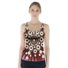 Background Star Red Abstract Racer Back Sports Top