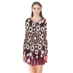 Background Star Red Abstract Flare Dress