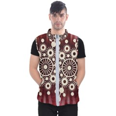 Background Star Red Abstract Men s Puffer Vest