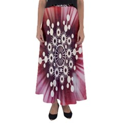 Background Star Red Abstract Flared Maxi Skirt