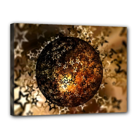 Christmas Bauble Ball About Star Canvas 16  X 12
