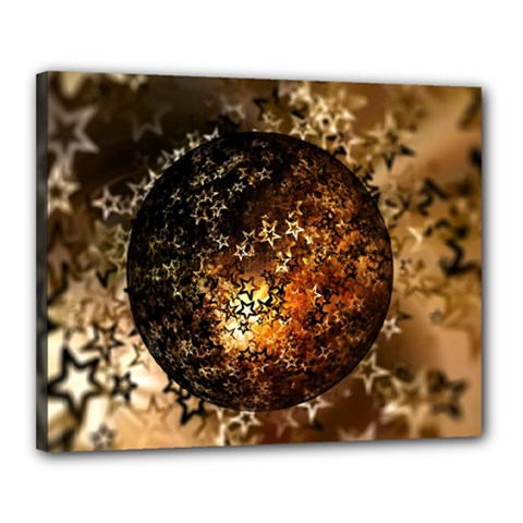 Christmas Bauble Ball About Star Canvas 20  X 16