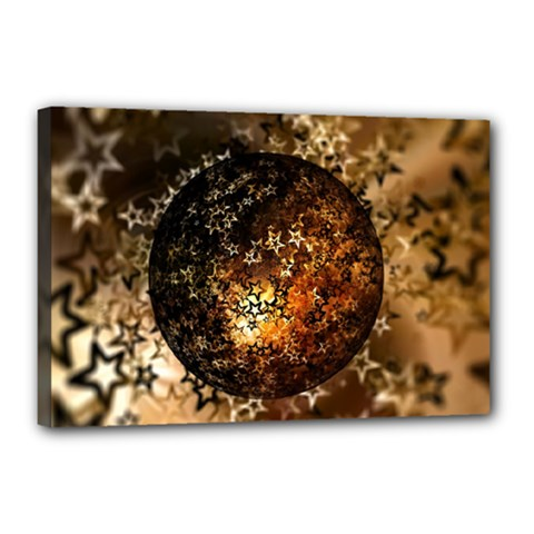Christmas Bauble Ball About Star Canvas 18  X 12