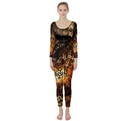 Christmas Bauble Ball About Star Long Sleeve Catsuit