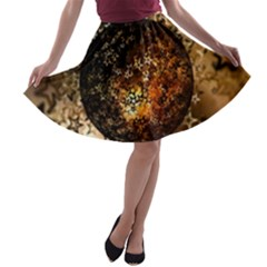 Christmas Bauble Ball About Star A Line Skater Skirt