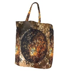 Christmas Bauble Ball About Star Giant Grocery Zipper Tote