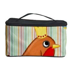 Bird Christmas Card Blue Modern Cosmetic Storage Case