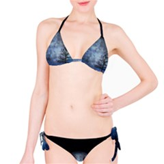 Winter Wintry Moon Christmas Snow Bikini Set