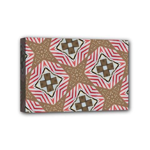 Pattern Texture Moroccan Print Mini Canvas 6  X 4