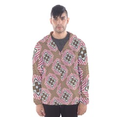 Pattern Texture Moroccan Print Hooded Wind Breaker (men)