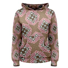 Pattern Texture Moroccan Print Women s Pullover Hoodie
