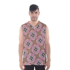 Pattern Texture Moroccan Print Men s Basketball Tank Top