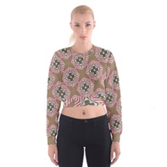 Pattern Texture Moroccan Print Cropped Sweatshirt