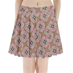 Pattern Texture Moroccan Print Pleated Mini Skirt