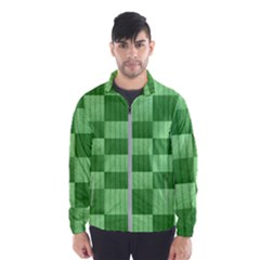 Wool Ribbed Texture Green Shades Wind Breaker (men)