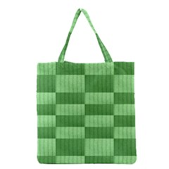 Wool Ribbed Texture Green Shades Grocery Tote Bag