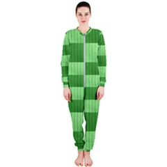 Wool Ribbed Texture Green Shades Onepiece Jumpsuit (ladies)