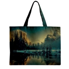 Yosemite Park Landscape Sunrise Zipper Mini Tote Bag