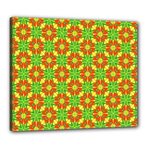 Pattern Texture Christmas Colors Canvas 24  X 20