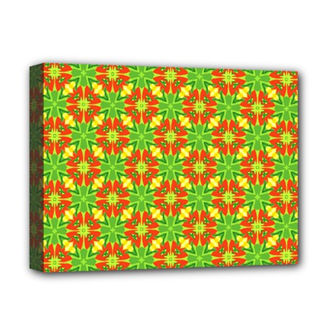 Pattern Texture Christmas Colors Deluxe Canvas 16  X 12