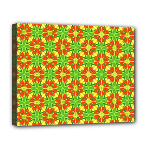 Pattern Texture Christmas Colors Deluxe Canvas 20  X 16