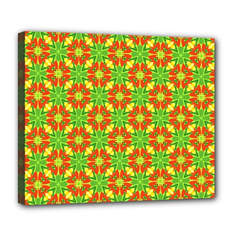 Pattern Texture Christmas Colors Deluxe Canvas 24  X 20