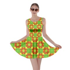 Pattern Texture Christmas Colors Skater Dress