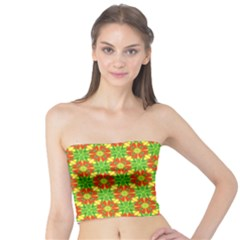 Pattern Texture Christmas Colors Tube Top