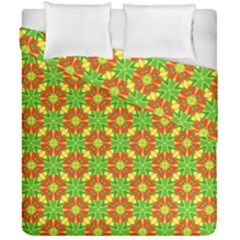 Pattern Texture Christmas Colors Duvet Cover Double Side (california King Size)