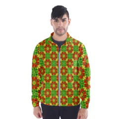 Pattern Texture Christmas Colors Wind Breaker (men)