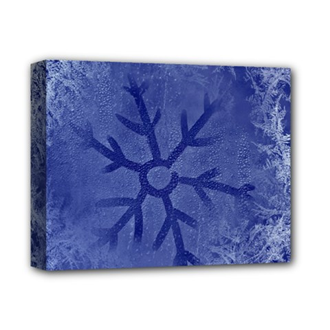 Winter Hardest Frost Cold Deluxe Canvas 14  X 11