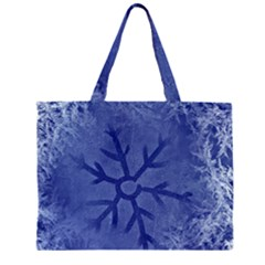Winter Hardest Frost Cold Zipper Large Tote Bag
