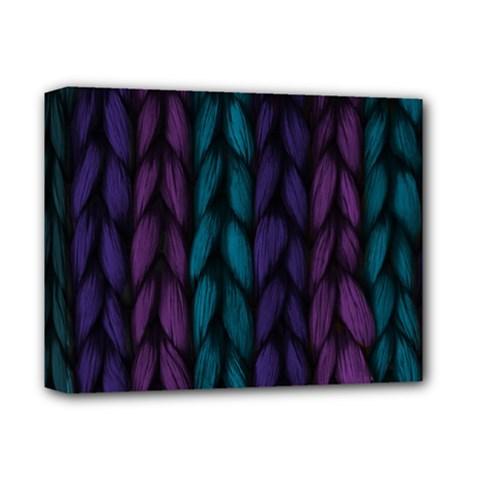 Background Weave Plait Blue Purple Deluxe Canvas 14  X 11
