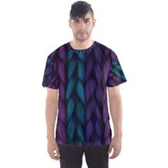 Background Weave Plait Blue Purple Men s Sports Mesh Tee