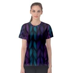 Background Weave Plait Blue Purple Women s Sport Mesh Tee