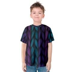 Background Weave Plait Blue Purple Kids  Cotton Tee