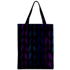 Background Weave Plait Blue Purple Zipper Classic Tote Bag