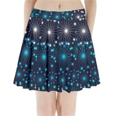 Wallpaper Background Abstract Pleated Mini Skirt