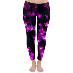 Abstract Background Purple Bright Classic Winter Leggings
