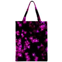 Abstract Background Purple Bright Zipper Classic Tote Bag