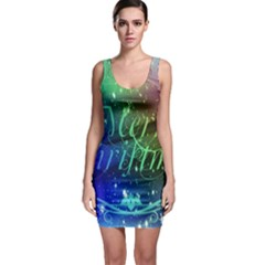 Christmas Greeting Card Frame Bodycon Dress